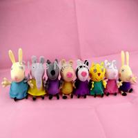 Peppa Pig friend plush Toys Dog Cat Sheep Rabbit Elephant pony/zoe/suzy Dolls Stuffed Toys,19cm,8 pcs