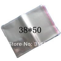 E4 Clear Resealable Cellophane/BOPP/Poly Bags 38*50cm  Transparent Opp Bag Packing Plastic Bags Self Adhesive Seal