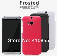 NILLKIN Super Shield Hard PC Frosted Back Case For HTC One 2 M8 new One+, with screen protector, 1pc Freeshipping!