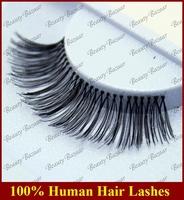 Newlook Free Shipping #82 3pairs/lot 100% Real Human hair Strip thick naturally large elegant false eyelash extension