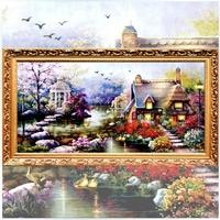 2014 New Arrival 5d Diy Diamond Painting Rhinestone Resin Square Drill Cross Stitch Diamond Embroidery Kits Dream Garden House