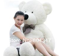 Giant Teddy Bear 180cm 200cm Big Cute Beige Plush Teddy Bear Huge Soft Cotton Toys for Children Free Shipping