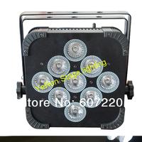 wireless battrery powered par light par can with 9pcs 10w quad-color 4in1 led lamp with flightcase 12pcsxlot