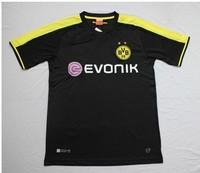 New 2013-14 Thailand quality Borussia Dortmund away team soccer football jerseys t shirt sportswear REUS Lewandowski