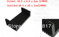 "CNC Machine Fitting Foldable Accordion Shape 12"" Length Dust Cover Black"