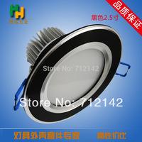 3W/5W/7W/9W,AC100~260V  pure white/warm white LED Ceiling light Down light down light,black round led down lights