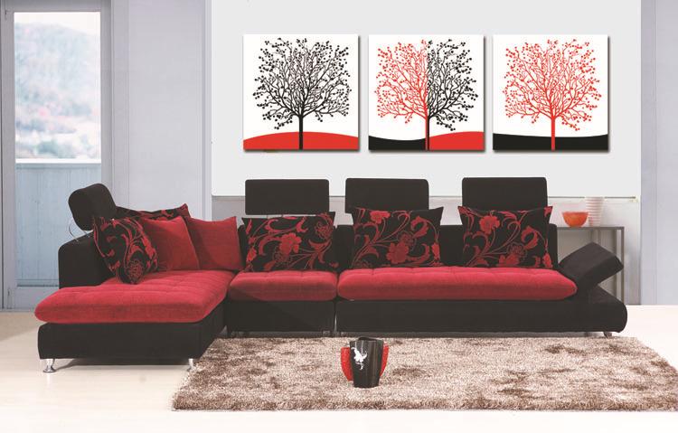 Koop 2 stuks interieur canvas kunst chinese stijl lotus schilderij kamer muur - Schilderij in de kamer ...