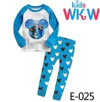 Girls The Frozen Pajamas Sets Kids Autumn -Summer Clothing Set New 2014 Wholesale Children Casual Pyjamas E-025
