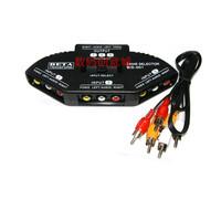 Free shipping Av-104 audio switcher ternary audio and video switch av signal switch av splitter
