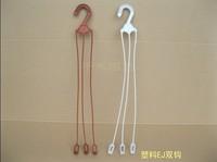 Plastic flower pot thread diaopen plastic ej double hook white red