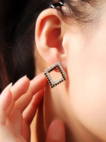 # 800073 square full of Crystal earrings Crystal earrings earrings Korea OL parties to join mixed batch of wholesale jewelry