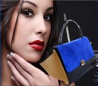 Hot  2014 new women high quality Messenger bag retro handbags matte swing the bat bag package 5 color