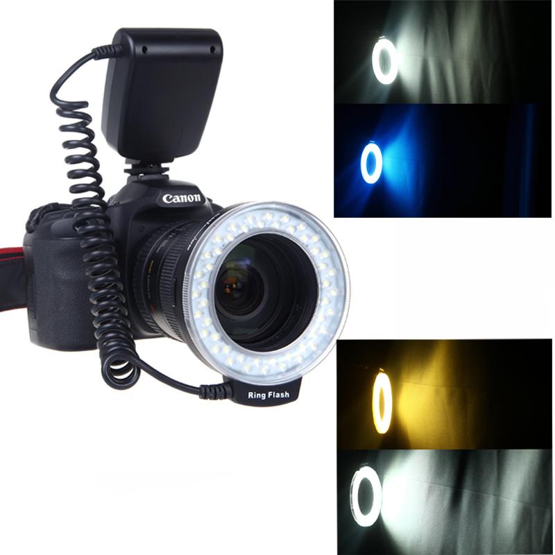 New Arrival RF-550D Macro 48 pieces LED Ring Flash Light for Canon Nikon Pentax Olympus Panasonic DSLR(China (Mainland))