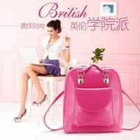 2014 preppy style girl   shoulder backpack dual-use girl's student backpack