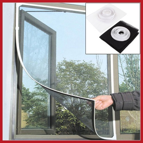 barterine Insect Fly Bug Mosquito Door Window Net Netting Mesh Screen Sticky Velcro Tape Save up to 50%(China (Mainland))