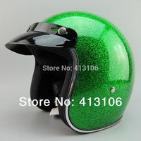 Free shipping/Motorcycle helmet/ Fiberglass material retro helmet/Top level open face helmet/green
