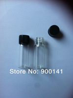 Clear 16*45MM 5ml  glass vial with screw plastic cap,  glass vials, glass bottles,100pcs