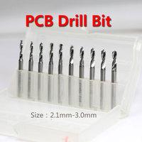 Discount 10pcs 2.1-3.0mm PCB Print Circuit Board Drill Bits, Carbide Micro Drill Bit, CNC PCB Dremel Free Shipping