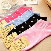 Min. order is $15 (mix order) Love dot cotton socks  slippers female