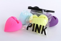 3D Victoria/'s Silicone Heart Loudspeaker Stand Secret For iPhone PINK Silicon Amplifier For iPhone 5 5g 5th Free Shipping