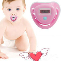 IH0000101E New 2014 Baby Nipple Electronic Health Monitors Care Baby Pacifier Shaped Digital Thermometer Free Shipping