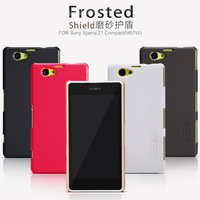 For Sony Xperia Z1 Compact M51W Nillkin Frosted Shield Series Shell Case For Xperia Z1 Compact M51w + Screen Flim Free Shipping