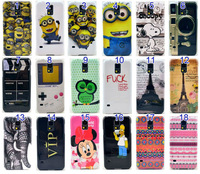 20PCS/LOT For Samsung galaxy S5 S V SV i9600 case Cartoon CD flower design telephone cases cover shell