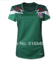2014 world Cup Mexico lady Home jersey shirt Mexico women soccer jerseys football jerseys soccer uniform shirts jerseys