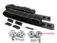 Mato 1:16 metal tracks & metal sprockets metal idler wheels with bearing kit for 1:16 1:16 2.4GHeng Long Russian T-34/85 RC tank