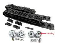 Mato 1:16 metal tracks & metal sprockets metal idler wheels with bearing kit for 1:16 1:16 2.4GHeng Long Russian T-34/85 RC tank