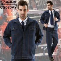 10sets-  long-sleeve work wear set workwear set male denim frock  factory work suits full sets electrical worker full sets