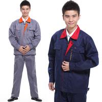 10sets- Male long-sleeve work wear set tooling uniform  workwear  worker clothes porter uniform print logo free ship