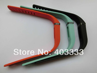 3PCS Large Band for Fitbit Flex Bracelet Black / Teal / Tangerine NO Clasp / NO Tracker