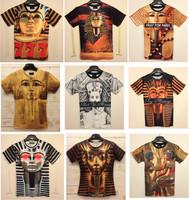 Fashion Animal Print 3D T shirt 3D All Funny Pharaoh Print Tshirt Man