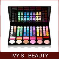 Pro 78 full colors eyeshadow palette lipstick blush makeup bursh cosmetic