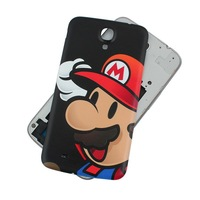Black Mario Pattern Battery Back Case Cover Skin For Samsung Galaxy Mega 6.3  I9200