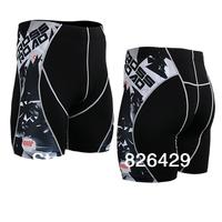 new Mens Compression sports shorts tight Leggings Base Under Layer Black skin tights shorts running fitness short pants LS06