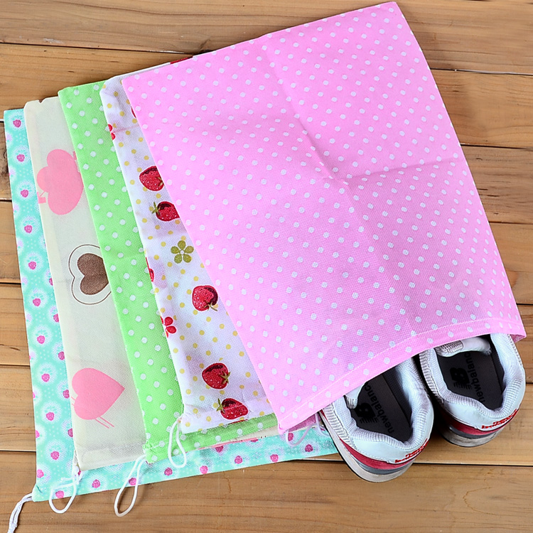 214 NEW Hot!!!Free Shipping Shoes Storage Bags non-woven shoes storage bag and dust bag print travel shoe bag beam port(China (Mainland))