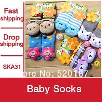 6Pairs New 2015 Baby Socks Lovely Cartoon Animals Baby Girls Socks Soft Meias Kids Floor Socks Baby Boys Clothing -- SKA31 PT05