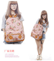 of the pastoral style floral canvas shoulder bag student bags casual shoulder  special export L080