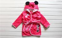 1 pcs/lot, 100%Coral velvet ,children girl and boy pajamas robes ,cartoon clothing ,BH-088