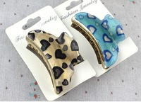 Free shipping(12 pieces/lot) Multi-color hair claw clip for women girls hair grip 6.8cm