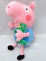 Free shipping Peppa pig toy  2 pieces/lot  19cm George Pig Plush Toy doll