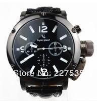 Free shipping, V6 Large Dial Men Sport Watches, fashion quartz watch