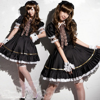 black Lolita girl princess uniform temptation sexy maid role playing sexy lingerie 9449-2 , free shipping