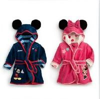 1 pcs/lot, 100%Coral velvet ,children girl and boy pajamas robes ,0.4kg