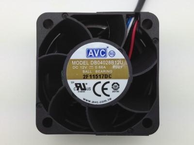 avc db04028b12u 4028 12v 1u server computer case fan 4cm(China (Mainland))