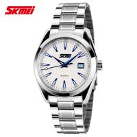For EverU Male watch fashionable casual calendar mens watch waterproof brief british style quartz watch