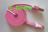 1M Colorful Noodle Micro USB Cable Sync Data&Charge Cable For Samsung Galaxy For HTC For LG etc 200pcs/lot