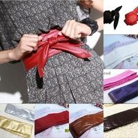 Women Functional PU Leather Wrap Around Bow Decorative Waist Belt 155